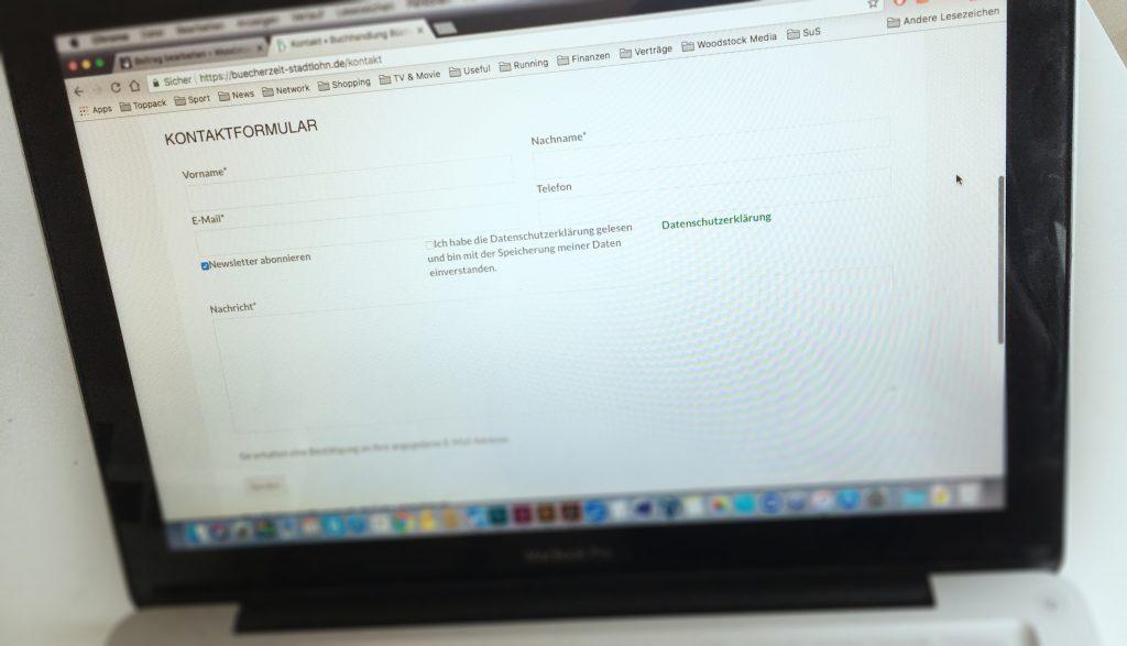 Kontaktformular Website BücherZeit